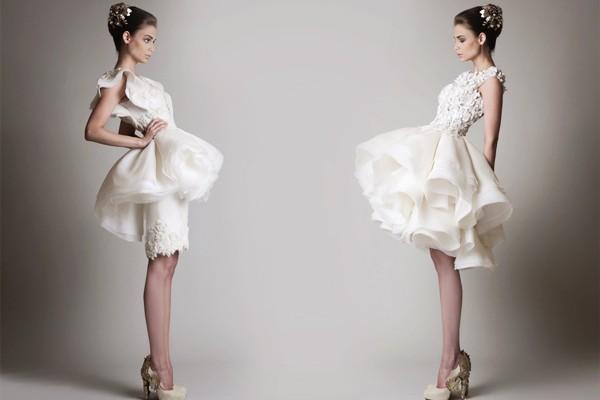 32款俏麗短婚紗