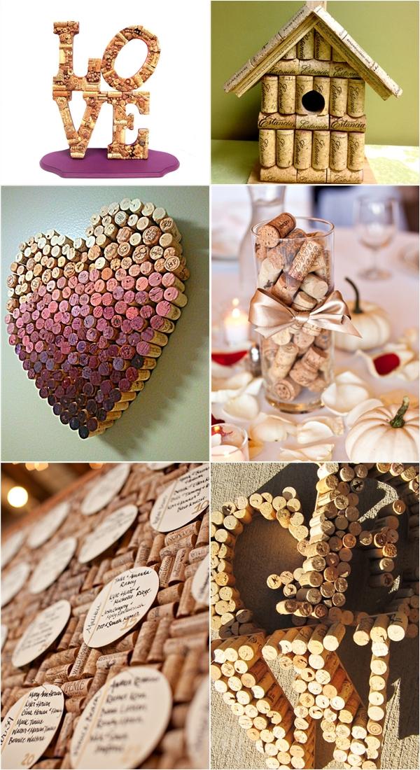 15 ceative wine cork designs praise wedding for Wine cork crafts for weddings