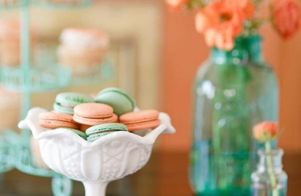 浪漫色彩配搭 – 薄荷綠與蜜桃橘