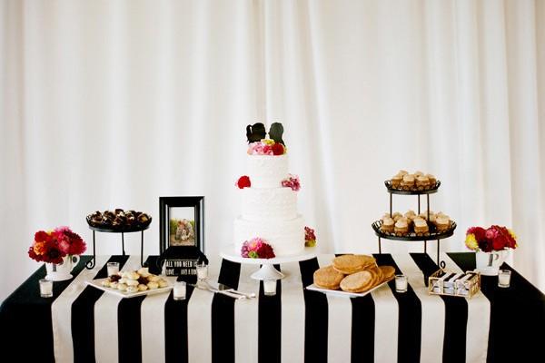 條紋圖案主題婚禮