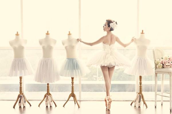 唯美度破表! 浪漫典雅芭蕾新娘