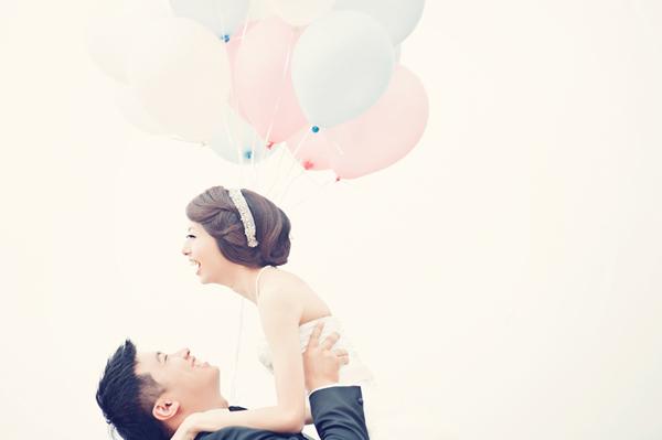 粉色系海灘婚紗照 (Pinkmama Photography 拍攝)