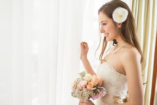 簡潔淡雅新娘飾品 – Davie & Chiyo