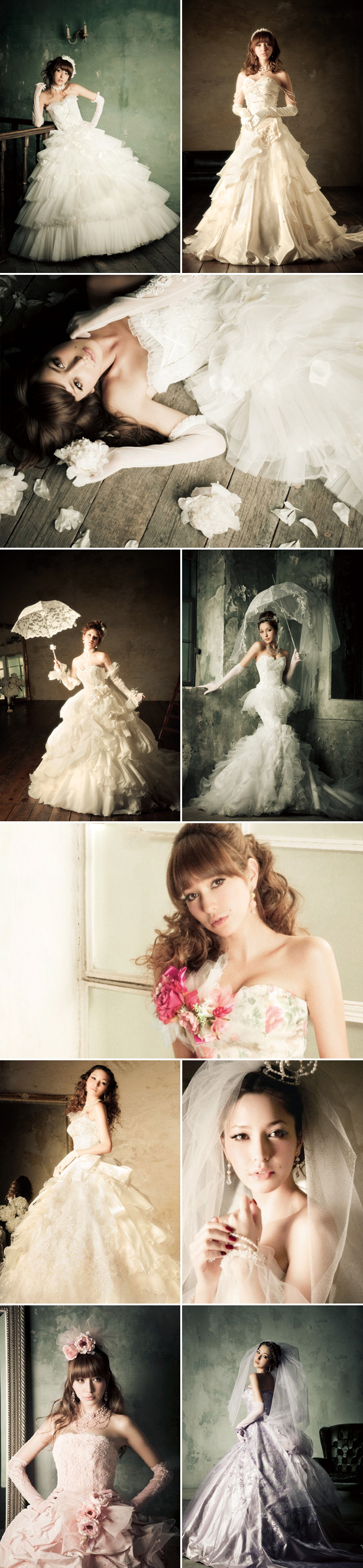30 Adorable Japanese Bridal Gowns - Praise Wedding