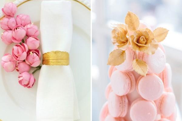 粉紅+金 柔美高雅婚禮配色