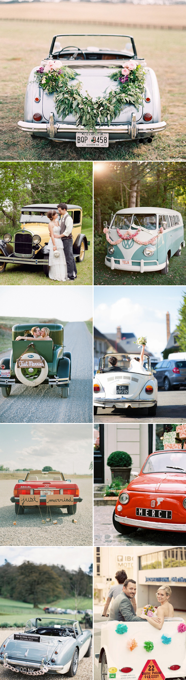 17 Vintage Wedding Getaway Cars - Praise Wedding
