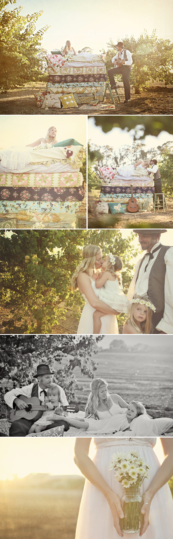 Princess and the pea fairytale engagement photo