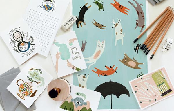 創意賀卡設計 – Quill & Fox