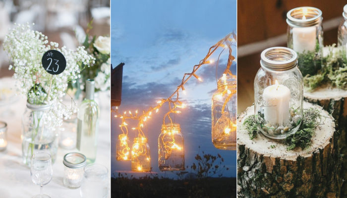 歐美最流行的小資玻璃瓶! 24種 Mason Jar 梅森罐婚禮派對佈置巧思!