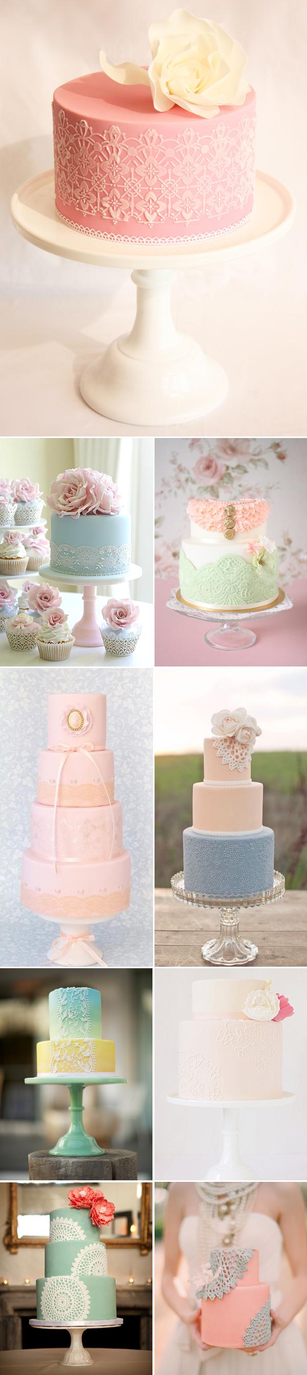 Lace wedding cake-pastel