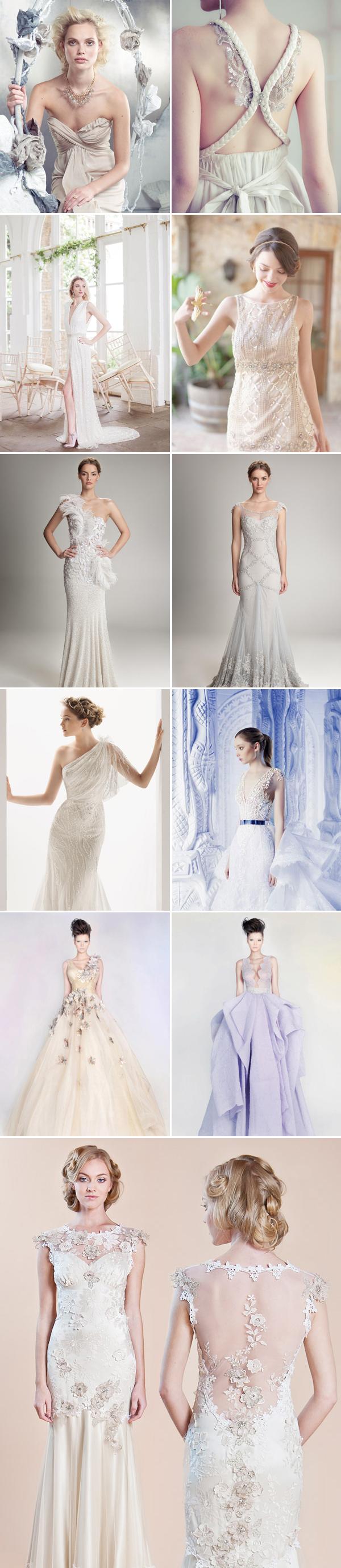 elegant reception gowns