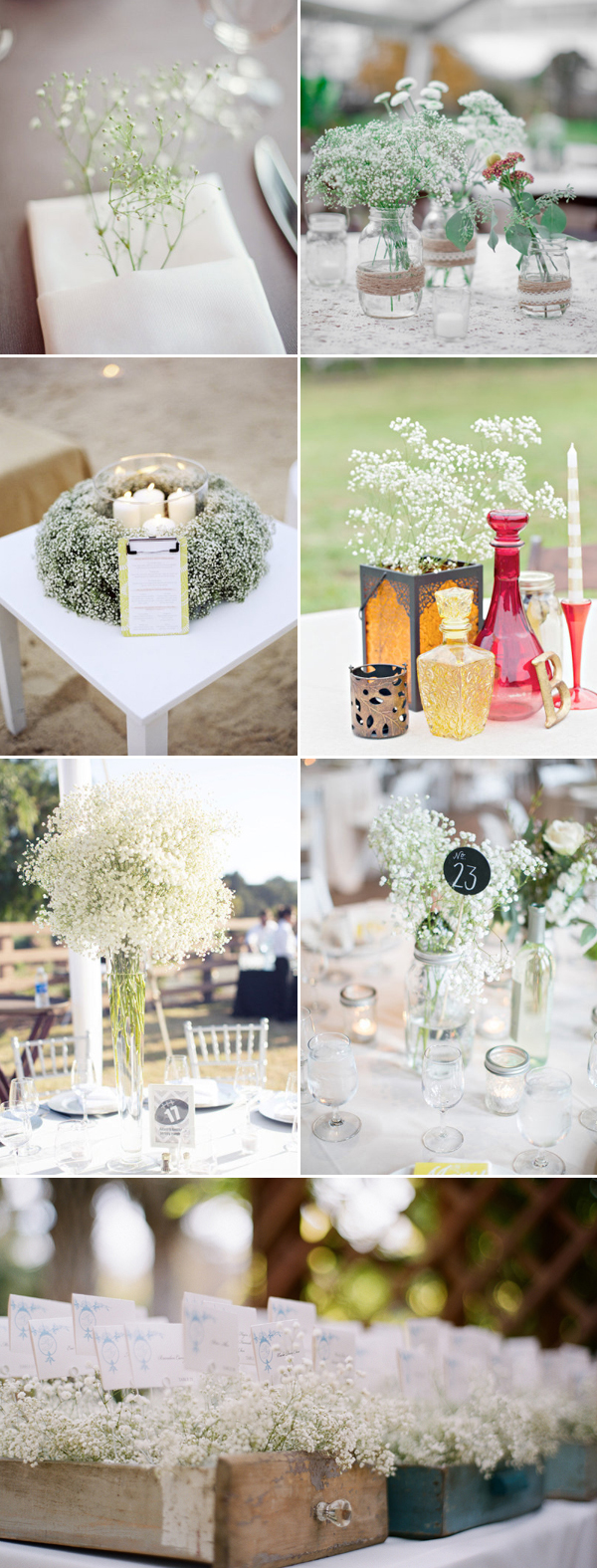 35 Lovely Baby\'s Breath Wedding Ideas - Praise Wedding
