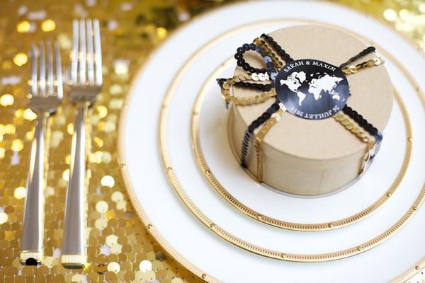 金+黑 高貴奢華婚禮配色