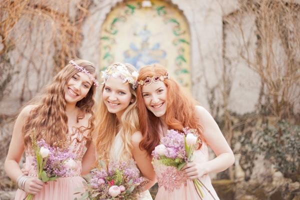 波希米亞風浪漫新娘造型