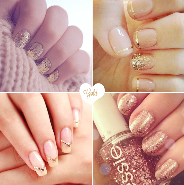 bridalnails05-gold