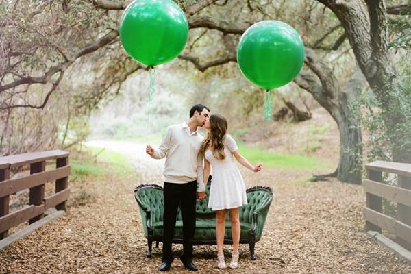寶石綠 時尚婚禮配色