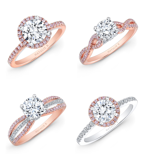 27 gorgeous rose gold engagement rings praise wedding. Black Bedroom Furniture Sets. Home Design Ideas