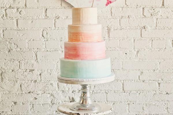 超人氣唯美創意 – 水彩彩繪蛋糕