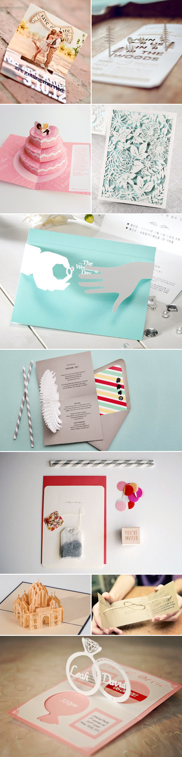 17 creative and fun 3d wedding invitation cards! - praise wedding, Wedding invitations