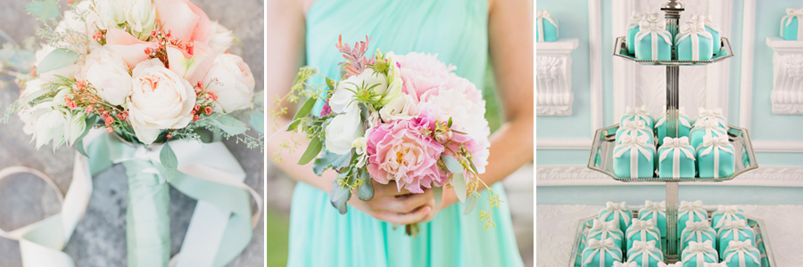 讓女孩們為之瘋狂的經典Tiffany 主題婚禮!