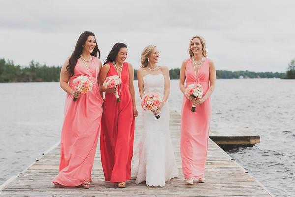 浪漫粉紅色系 湖岸婚禮 (Rowell Photography 拍攝)