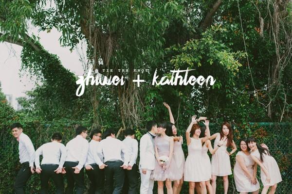 粉色系歡樂感染力 – 新加坡婚禮 (Bloc Memoire拍攝)