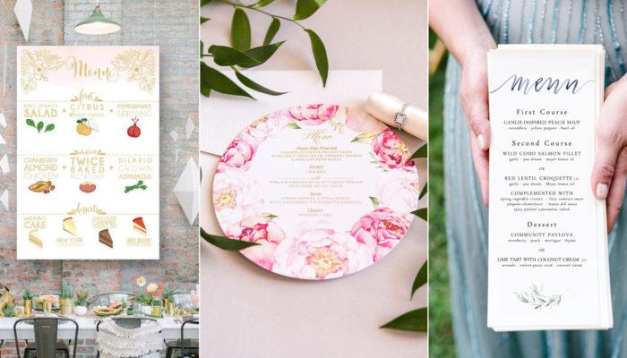 30 種創意婚宴菜單設計,開啟精緻的婚禮饗宴!