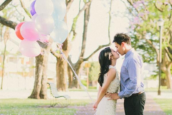 澳洲浪漫藍花楹婚紗照 (Samuel Goh 拍攝)