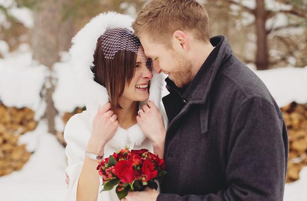 馬斯科卡浪漫冬季雪地婚禮 (Rowell Photography 拍攝)