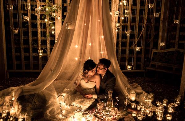 浪漫破表的魔法燭光婚紗照 (Kunioo 拍攝)