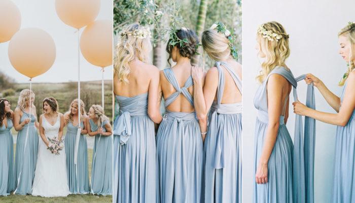 一件禮服多種穿法! 28款超神奇的時尚百變伴娘禮服!