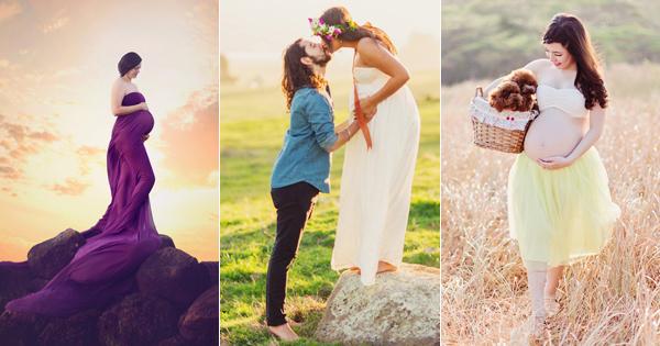 媽咪走出來, 與世界分享愛! 23張自然唯美戶外孕婦寫真