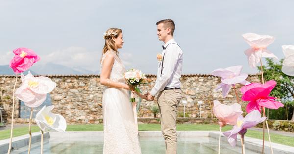 浪漫兩人婚禮 – 瑞士花卉島私奔紀錄!