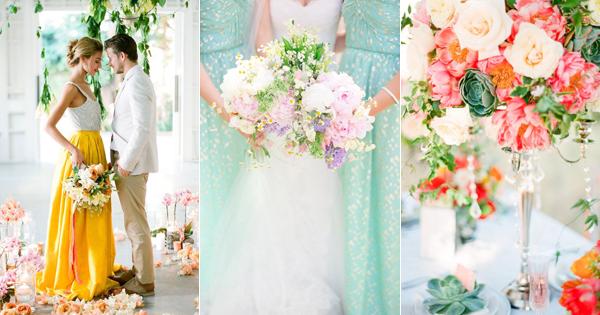 今年夏天最浪漫可愛的婚禮主題色!