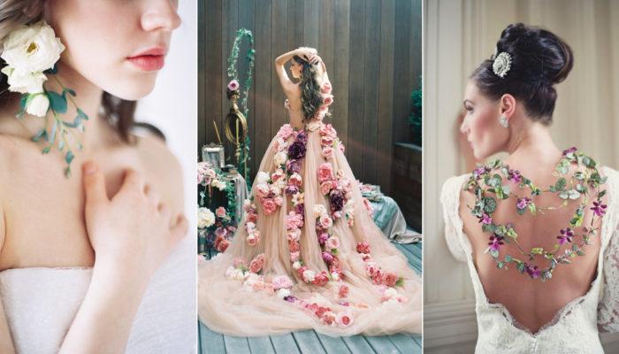 最夯婚禮花藝 – 可穿戴的新鮮花朵! 37款不可思議的夢幻花藝服飾!