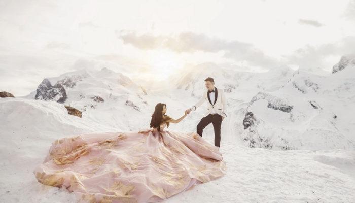比夢境還浪漫的冰雪童話 – 22張浪漫絕美雪地婚紗照!