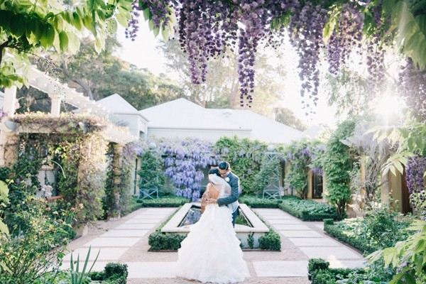 粉紫色浪漫童話 – 澳洲秘密花園主題婚禮 (Ben Yew 拍攝)