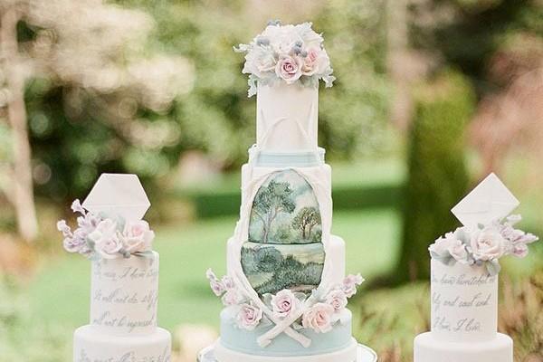 最甜蜜的驚喜! 20個美得幾乎讓人捨不得吃掉的藝術派婚禮蛋糕!