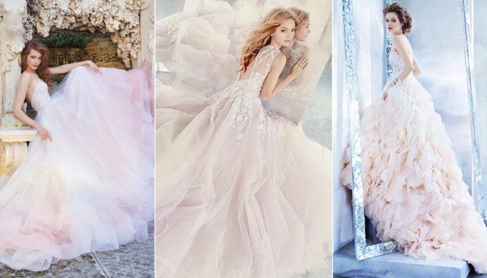 最夢幻的婚紗潮流 – 22件若有若無的唯美「輕柔新色彩」!
