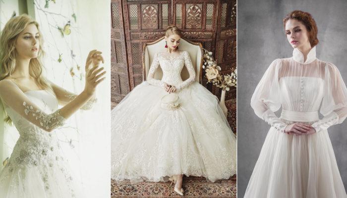 有袖婚紗就是主流! 34件浪漫時尚美袖婚紗