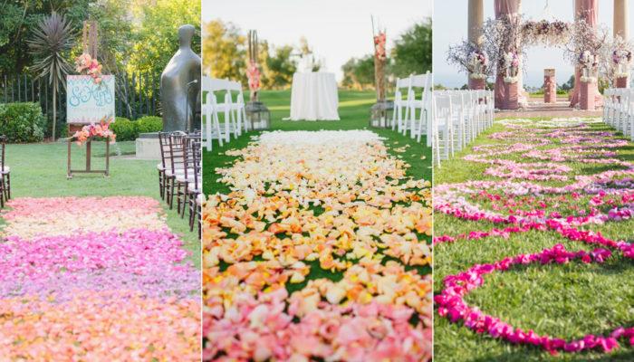 18種浪漫漸層色彩鮮花走道 – 打造史上最夢幻的童話婚禮!
