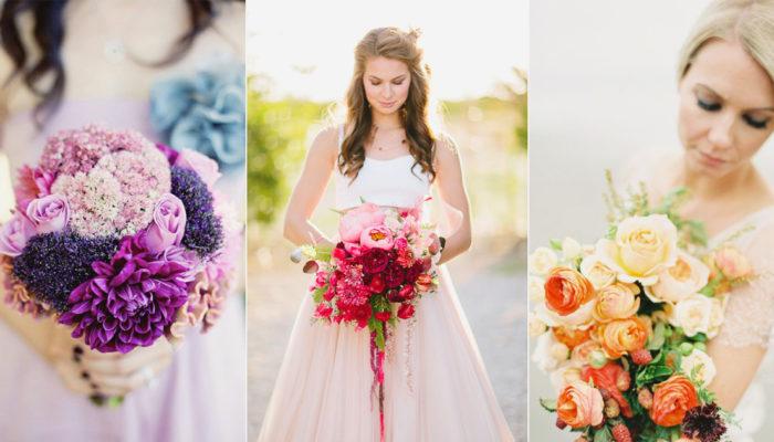 紅遍歐美的婚禮潮流 – 夢幻「漸層色捧花」, 打造浪漫層次感!
