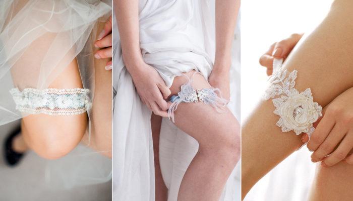 婚紗裙襬裡的美麗幸運物 – 31條浪漫性感新娘襪帶!