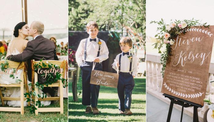 20個美式鄉村風婚禮告示牌 – 創意佈置牌板!