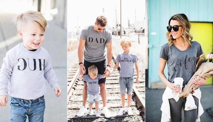 家人也要秀恩愛! 14件親子同樂時尚家庭T恤上衣!