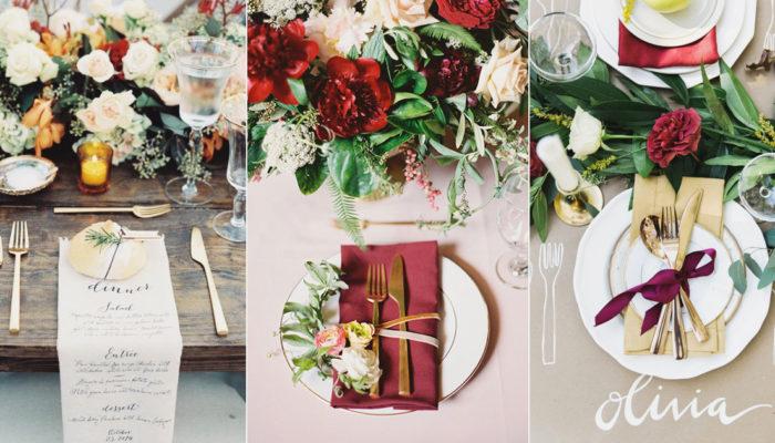16個浪漫秋季婚宴餐桌佈置, 打造一場屬於秋天的童話饗宴