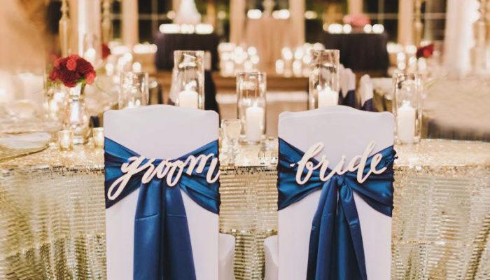 不敗的經典! 華麗優雅婚禮配色 – 皇室藍+復古金