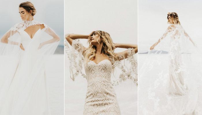 愛美也要保暖! 30件拯救秋季新娘的時尚女神系披肩小外套!