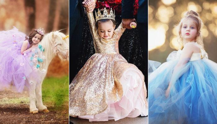 幫小花童實現她的公主夢! 30件超可愛迷你童話公主禮服!