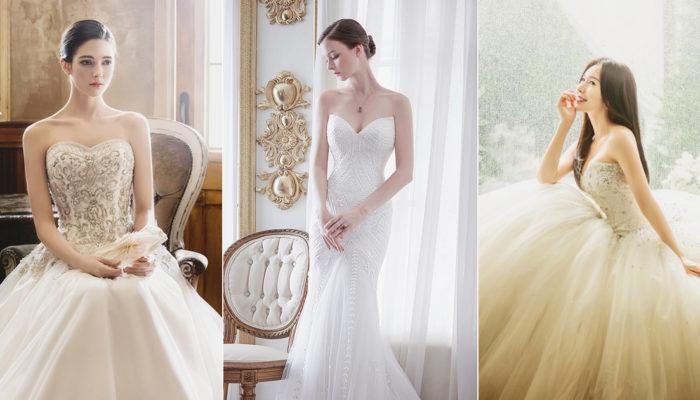 完美修飾臉型和身材 – 16件經典優雅桃心領婚紗!